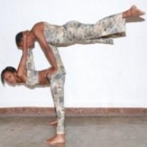 Duo Acrobatics Dance And Circus