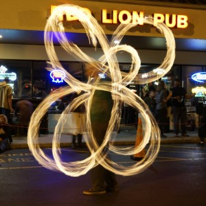 Flow Motion - Fire Performer in Orlando, Florida