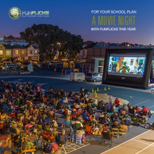 Fun Flicks SF Bay Area - Outdoor Movie Screens / Mobile Game Activities in San Leandro, California