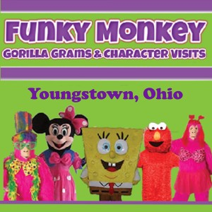 Funky Monkey Gorilla Grams and Character Visits - Costumed Character in Youngstown, Ohio