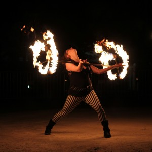 GingerSnaps Fire and Lights - Fire Dancer in Boston, Massachusetts