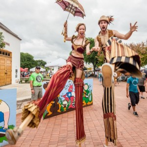 Circus Picnic - Stilt Walker / Outdoor Party Entertainment in Austin, Texas