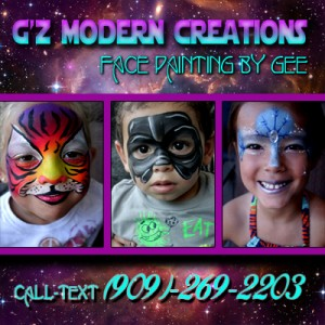 G'z Modern Design - Face Painting - Face Painter in Riverside, California