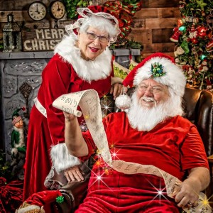 Santa Chuck and Mrs Sandy Claus - Santa Claus in Vista, California
