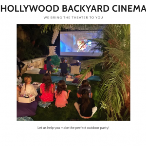 Hollywood Backyard Cinema - Outdoor Movie Screens in Sherman Oaks, California