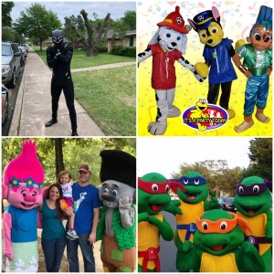 Dallas It's A Party Today! - Costumed Character / Superhero Party in Dallas, Texas