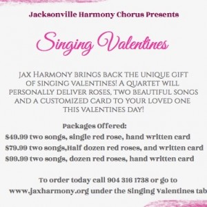 Jacksonville Harmony Chorus - A Cappella Group / Barbershop Quartet in Jacksonville, Florida