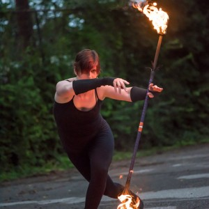 Jain Aflame - Fire Dancer in Bloomington, Indiana