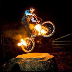 Janicki Designs Bike and Fire Entertainment - Stunt Performer / Fire Eater in New Haven, Connecticut