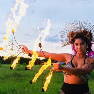 Joan Velazquez Performance Art - Hoop Dancer in Orlando, Florida