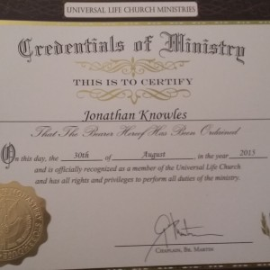 Jon's Wedding Service - Wedding Officiant in Mesa, Arizona
