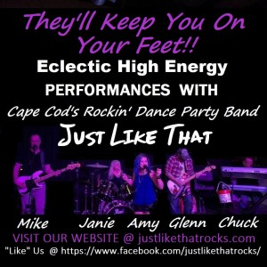 """Just Like That"" Party Dance Rock Band - Party Band in East Wareham, Massachusetts"
