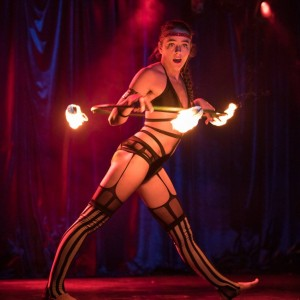 Kai Bluestar - Fire Performer in Portland, Oregon