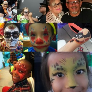 Kat & Sabby faces u love - Face Painter in Downey, California