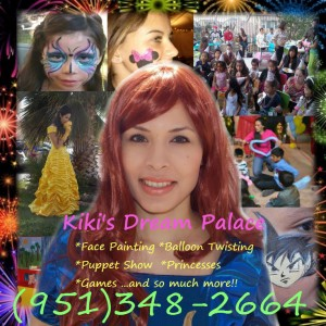 Kiki's Dream Palace - Face Painter / Balloon Twister in Temecula, California