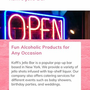 Koffi's Jello Bar - Bartender / Holiday Party Entertainment in Queens Village, New York