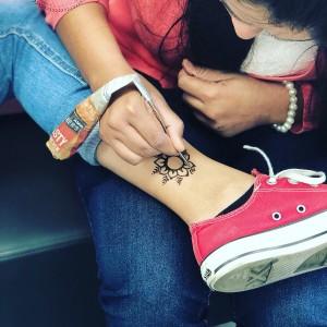 La henna tattoo