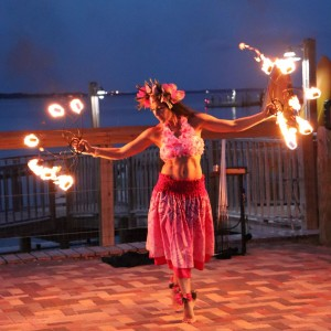 La Santa Damiana - Fire Dancer / Stilt Walker in Mobile, Alabama