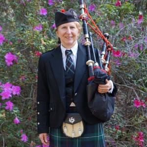 Lady Bagpiper Pat of Orlando, Florida