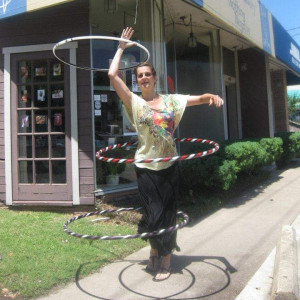 LED & Fire Hula Hoop Act - Circus Entertainment in Houston, Texas