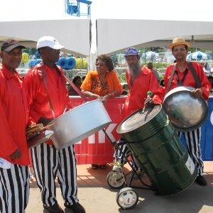 """Legendary """"Panman Pat"""" Steelpan music and shows."""