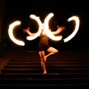 Lia Simone - Fire Performer in Shelburne Falls, Massachusetts