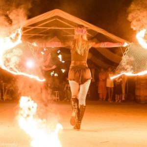 Light Temple Dance - Fire Performer in Chico, California