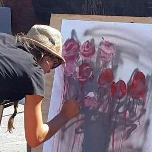 J.Charboneau Live Action Painting - Fine Artist in Reno, Nevada