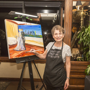 Live Event Painting by Renata - Fine Artist in Richardson, Texas
