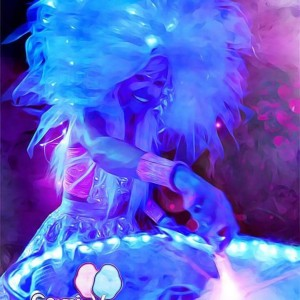 Cosmic Cotton Candy Entreatment - Fire Dancer in Tampa, Florida