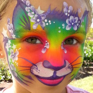 Looking Glass Painting - Face Painter in Vancouver, British Columbia