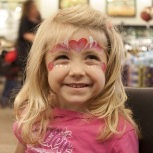 Love Bug Face Painting - Face Painter / Human Statue in Waukesha, Wisconsin