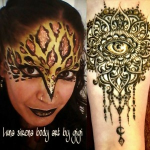 Luna sirena body art by gigi - Henna Tattoo Artist / College Entertainment in Albuquerque, New Mexico