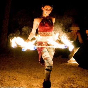 Maia del Mazo - Fire Performer in Austin, Texas