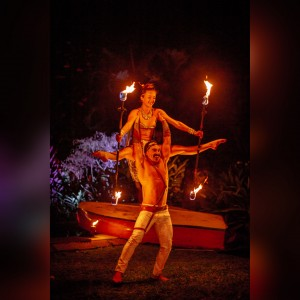 Maui Hoop Girl - Fire Performer in Makawao, Hawaii