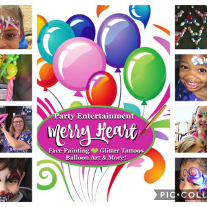 Merry Heart Entertainment: Face Painting, Glitter Tattoos, Balloon Art - Face Painter in Arlington, Texas