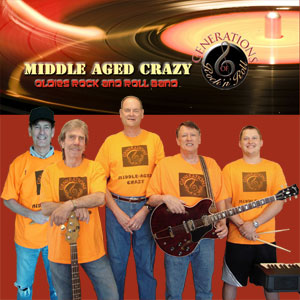 Middle-Aged Crazy Band - Classic Rock Band / Oldies Music in Dallas, Texas