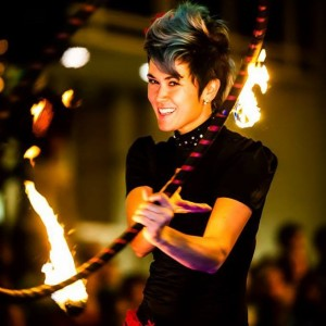 Mindy Reaves of FluxHoops - Fire Performer / Circus Entertainment in Raleigh, North Carolina