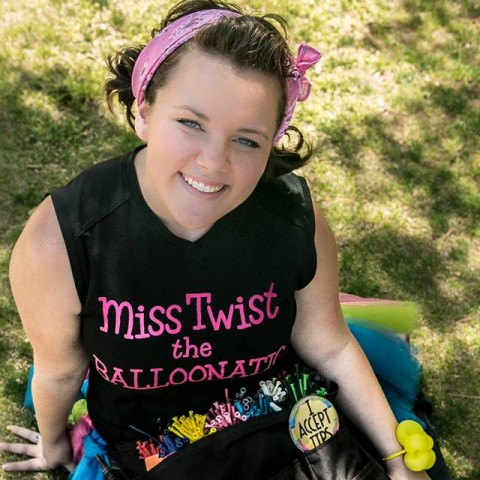 Hire miss twist the balloonatic balloon twister in for Painting with a twist greenville sc