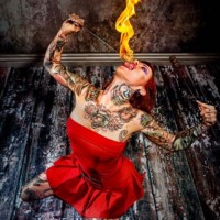 Mizuz Inkaholik - Fire Eater / Female Model in Austin, Texas