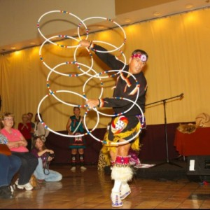 Native American Hoop Dancer for Assemblies & Programs - Native American Entertainment / Variety Entertainer in Rancho Cucamonga, California