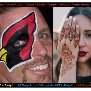 AZ Party Artists - Children's Party Entertainment / Temporary Tattoo Artist in Phoenix, Arizona