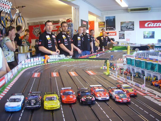 Slot car racing videos