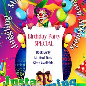 Justa Clowning Around Clown For Hire - Clown / Children's Party Magician in Modesto, California