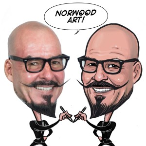 NorwoodArt.com - Caricatures by Norwood - Caricaturist / Family Entertainment in Placentia, California