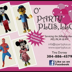 O' Party Plus, LLC - Costume Rentals / Costumed Character in Martinsburg, West Virginia