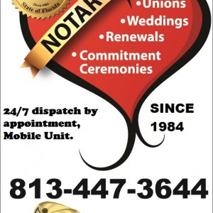 Officiant & Notary Public - Wedding Officiant in Tampa, Florida