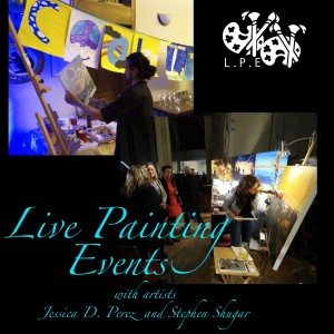 Live Painting with Jessica D. Perez and Stephen Shugar - Fine Artist in Montreal, Quebec