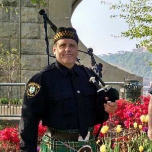 Pipe Major Chuck Handerhan - Bagpiper / Sports Exhibition in Carnegie, Pennsylvania