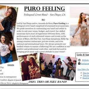 Puro Feeling - Top 40 Band in San Diego, California